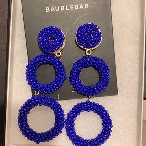 Baublebar blue statement hoop earrings